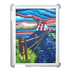 Cape Bonavista Lighthouse Apple Ipad 3/4 Case (white) by reillysart
