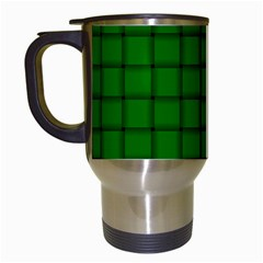Green Weave Travel Mug (white) by BestCustomGiftsForYou
