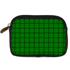 Green Weave Digital Camera Leather Case
