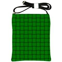 Green Weave Shoulder Sling Bag by BestCustomGiftsForYou