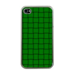 Green Weave Apple Iphone 4 Case (clear) by BestCustomGiftsForYou