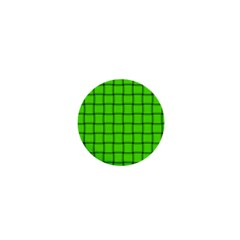 Bright Green Weave 1  Mini Button Magnet by BestCustomGiftsForYou