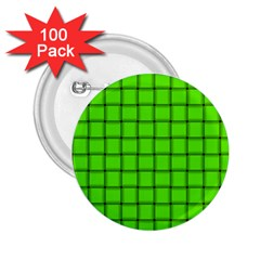 Bright Green Weave 2 25  Button (100 Pack) by BestCustomGiftsForYou