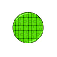 Bright Green Weave Golf Ball Marker (for Hat Clip)