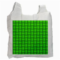 Bright Green Weave Recycle Bag (two Sides) by BestCustomGiftsForYou