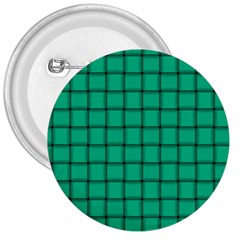 Caribbean Green Weave 3  Button by BestCustomGiftsForYou