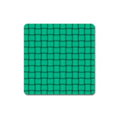 Caribbean Green Weave Magnet (square) by BestCustomGiftsForYou
