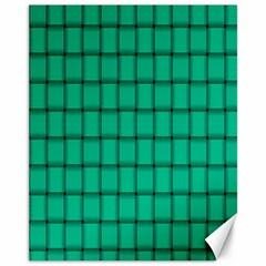 Caribbean Green Weave Canvas 11  X 14  9 (unframed) by BestCustomGiftsForYou