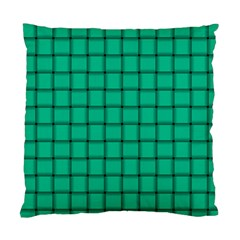 Caribbean Green Weave Cushion Case (one Side) by BestCustomGiftsForYou