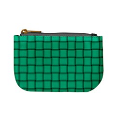 Caribbean Green Weave Coin Change Purse