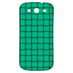 Caribbean Green Weave Samsung Galaxy S3 S Iii Classic Hardshell Back Case by BestCustomGiftsForYou