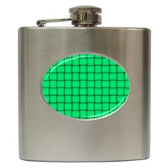 Spring Green Weave Hip Flask by BestCustomGiftsForYou