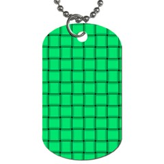 Spring Green Weave Dog Tag (two Sided)  by BestCustomGiftsForYou