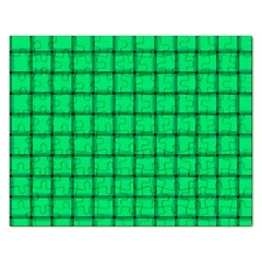 Spring Green Weave Jigsaw Puzzle (Rectangle) by BestCustomGiftsForYou
