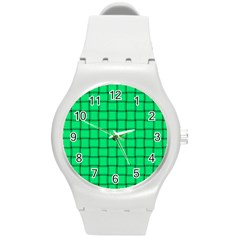 Spring Green Weave Plastic Sport Watch (medium) by BestCustomGiftsForYou