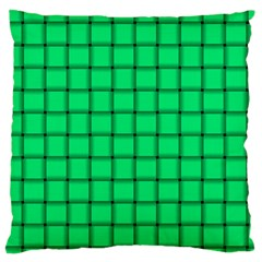 Spring Green Weave Large Cushion Case (two Sides) by BestCustomGiftsForYou