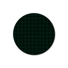 Dark Green Weave Drink Coaster (round) by BestCustomGiftsForYou