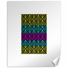 Cmyk Damask Flourish Pattern Canvas 11  X 14  9 (unframed) by DDesigns
