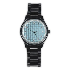 Light Blue Weave Sport Metal Watch (black) by BestCustomGiftsForYou