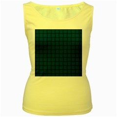 Cobalt Weave Womens  Tank Top (yellow) by BestCustomGiftsForYou