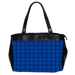 Cobalt Weave Oversize Office Handbag (two Sides) by BestCustomGiftsForYou