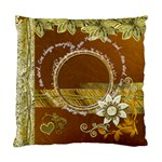 One moment is everything gold cushion case - Standard Cushion Case (One Side)