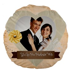 Wedding By Paula Green   Large 18  Premium Round Cushion    Tnzck0k0mfw7   Www Artscow Com Front