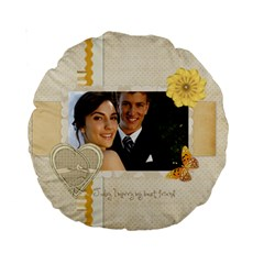 Wedding By Paula Green   Standard 15  Premium Round Cushion    1p0fadbj4eoz   Www Artscow Com Back