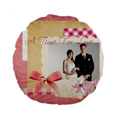 Wedding By Paula Green   Standard 15  Premium Round Cushion    Igfatk67fn0d   Www Artscow Com Back