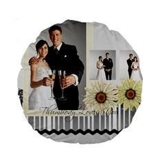 Wedding By Paula Green   Standard 15  Premium Round Cushion    Atdcra3c4ebe   Www Artscow Com Front