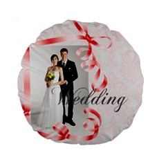 Wedding By Paula Green   Standard 15  Premium Round Cushion    Os8vw98o2p2p   Www Artscow Com Front