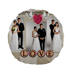 Wedding By Paula Green   Standard 15  Premium Round Cushion    2h7e4ew3g81v   Www Artscow Com Back