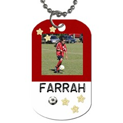 Farrah Dog Tag By Taryn Powell   Dog Tag (two Sides)   3go8tz3gozmn   Www Artscow Com Front