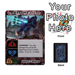 Battletech: Domination V2 1 Supply Cards By Scott Heise   Playing Cards 54 Designs   Zqq7ttyiolkk   Www Artscow Com Front - Heart7