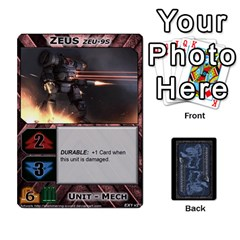 Battletech: Domination V2 1 Supply Cards By Scott Heise   Playing Cards 54 Designs   Zqq7ttyiolkk   Www Artscow Com Front - Club8