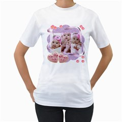 Cookie Hearts And Ribbons By Ivelyn   Women s T Shirt (white) (two Sided)   Nm33h23s3lqp   Www Artscow Com Front