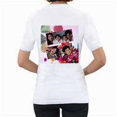 Candy Hearts & Gumdrops By Ivelyn   Women s T Shirt (white) (two Sided)   Ceivmd5ar7ns   Www Artscow Com Back