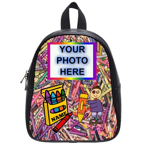 Colorful Small Book Bag By Joy Johns   School Bag (small)   A172z0onubir   Www Artscow Com Front