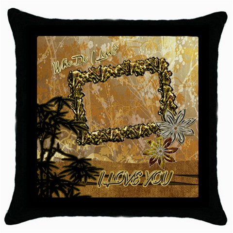 I Love You Throw Pillow Case By Ellan   Throw Pillow Case (black)   Pn3mk6ztejep   Www Artscow Com Front