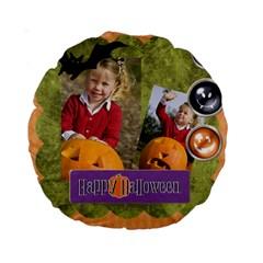 Helloween By Helloween   Standard 15  Premium Round Cushion    St7tu16we0wl   Www Artscow Com Front