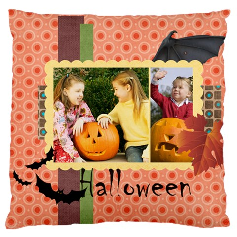 Helloween By Helloween   Large Cushion Case (one Side)   Iamvgb4hogly   Www Artscow Com Front