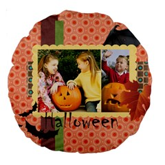 Helloween By Helloween   Large 18  Premium Round Cushion    Fhqi4tf3ce8i   Www Artscow Com Front
