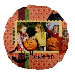 Helloween By Helloween   Large 18  Premium Round Cushion    Fhqi4tf3ce8i   Www Artscow Com Back