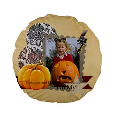 Helloween By Helloween   Standard 15  Premium Round Cushion    08l36e2h9pnf   Www Artscow Com Front