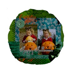 Helloween By Helloween   Standard 15  Premium Round Cushion    Vt98djj8c7b4   Www Artscow Com Front