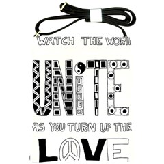 Watch The World Unite As You Turn Up The Love Shoulder Sling Bag by EllaTheGiraffe