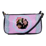 pink w/blue lace - Shoulder Clutch Bag