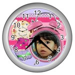 Any Time is Cupcake Time - Wall Clock (Silver)