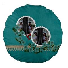 18  Premium Round Cushion : Flowers By Jennyl   Large 18  Premium Round Cushion    7dgi9v455fbb   Www Artscow Com Back