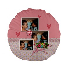 15  Premium Round Cushion : Friends Forever By Jennyl   Standard 15  Premium Round Cushion    Di2bjw8shfzr   Www Artscow Com Back